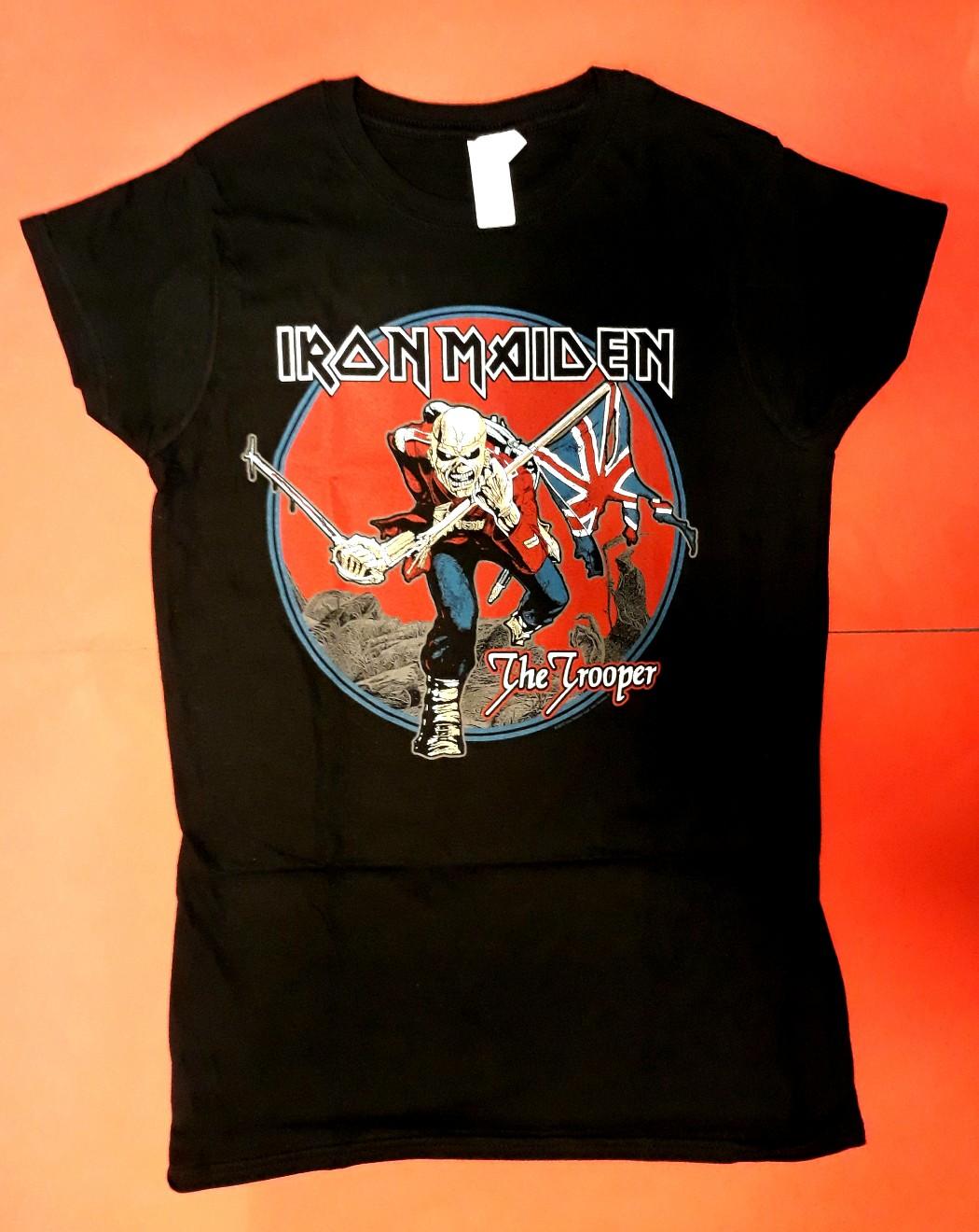 c85e7b632 Camiseta Iron Maiden chica - TELON DE ACERO